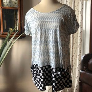 ANTHROPOLOGIE POSTMARK geometric patterned tunic